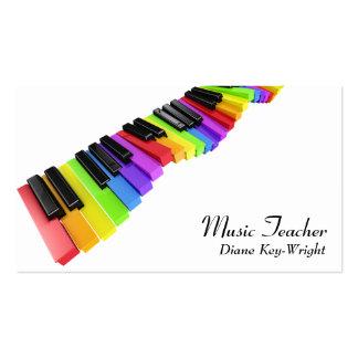 Carte de visite de leçons de piano de professeur d