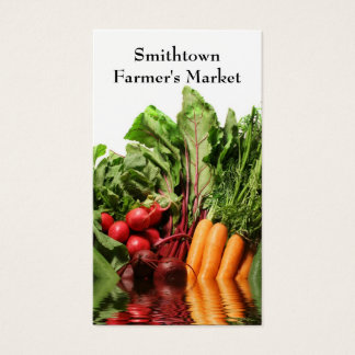 Carte de visite de légumes