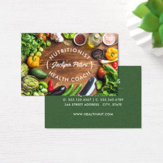Carte de visite de légumes frais
