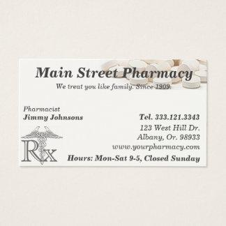 Carte de visite de liste de médicament de