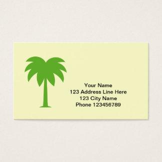 Carte de visite de logo de palmier