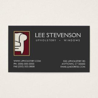 Carte de visite de logo de sofa de tapissier de