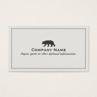 Carte de visite de logo d'ours