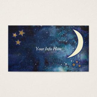 Carte de visite de lune et d'étoiles