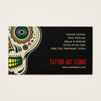 Carte de visite de magasin d'art de tatouage