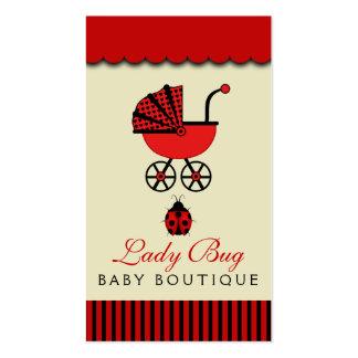 Carte de visite de magasin de bébé de magasin de