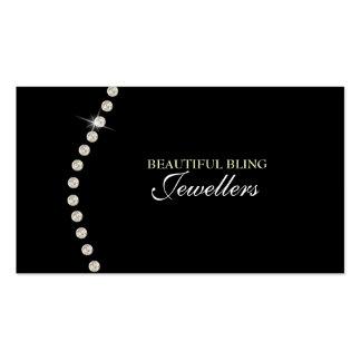 Carte de visite de magasin de bijoux de bijou de B