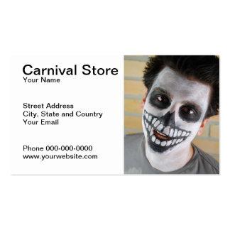Carte de visite de magasin de carnaval