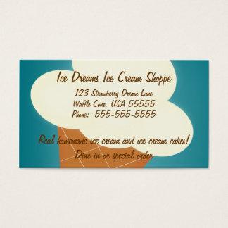 Carte de visite de magasin de crème glacée