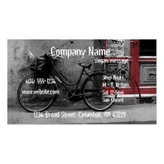 Carte de visite de magasin de vélo