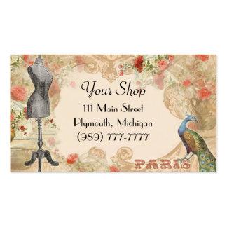 Carte de visite de magasin d'ouvrière couturière