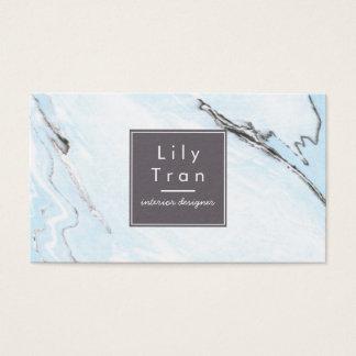 Carte de visite de marbre d'aquarelle de bleu de