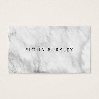 Carte de visite de marbre minimaliste de texture
