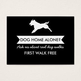 Cartes De Visite Carte de visite de marcheur de chien -
