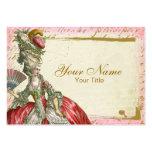 Carte de visite de Marie Antoinette Versailles