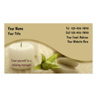 Carte de visite de massage