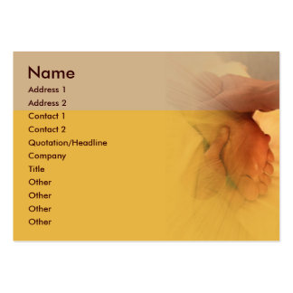 Carte de visite de massage de pied