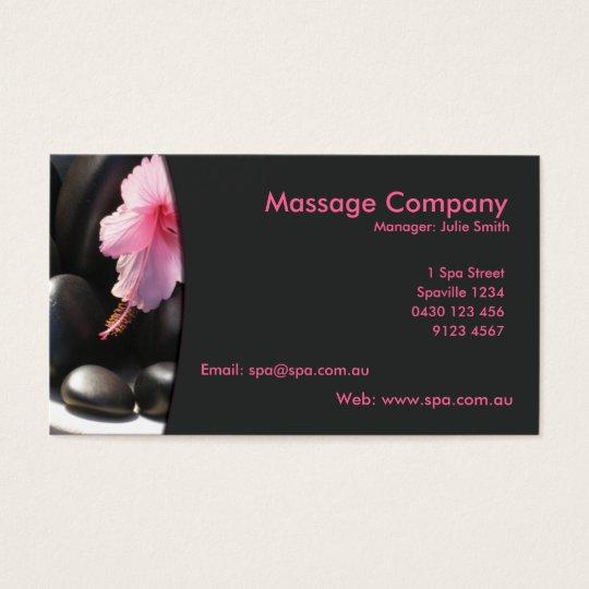 Carte De Visite Massage Relaxation