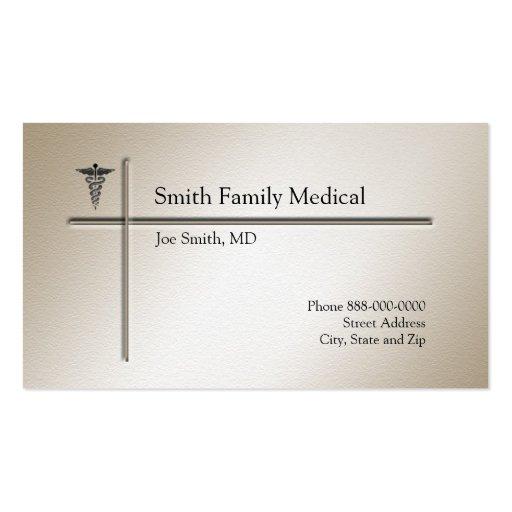 Carte de visite de médecin