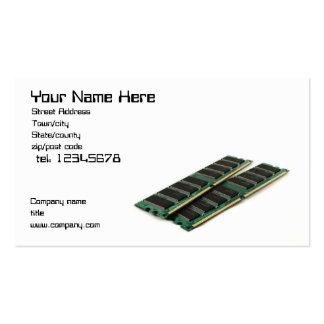 Carte de visite de mémorisation par ordinateur