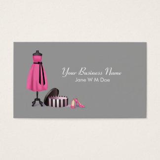 Carte de visite de mode de couture