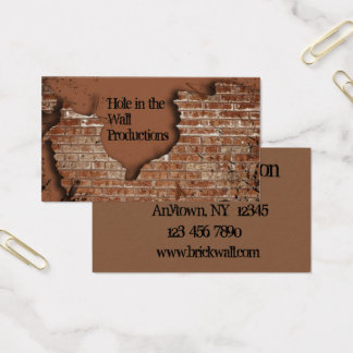 Carte de visite de mur de briques