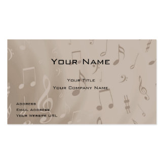 Carte de visite de musicien