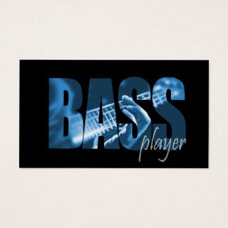 Carte de visite de musicien de bassiste