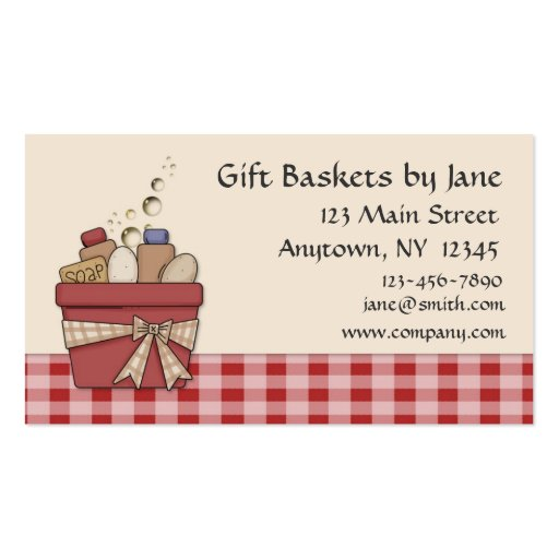 Carte de visite de panier de cadeau