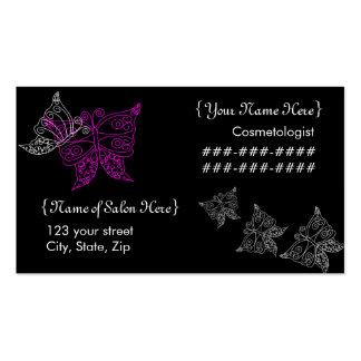 Carte de visite de papillon de Cosmetologist