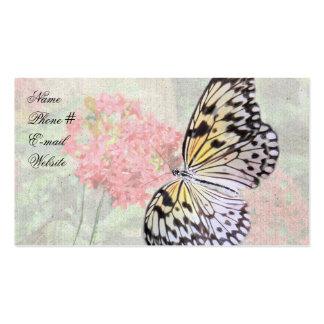 Carte de visite de papillon de nymphe