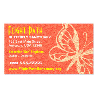 Carte de visite de papillon - orange