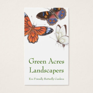 Carte de visite de papillon - paysagiste et