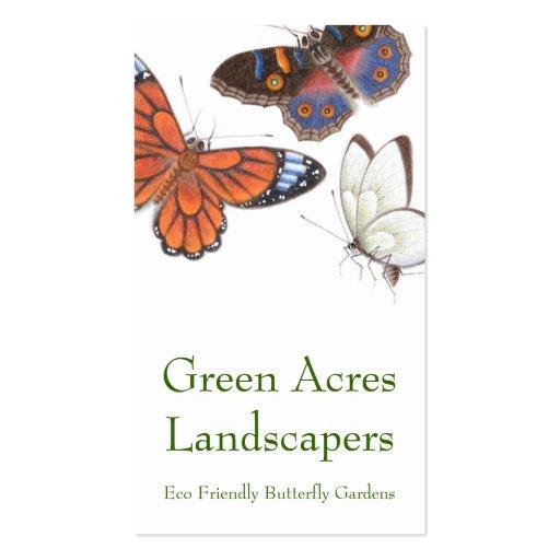 Carte de visite de papillon - paysagiste et jardin