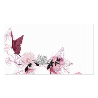 Carte de visite de papillons