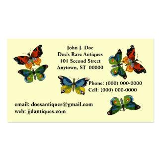 CARTE DE VISITE de papillons de papillon en vol