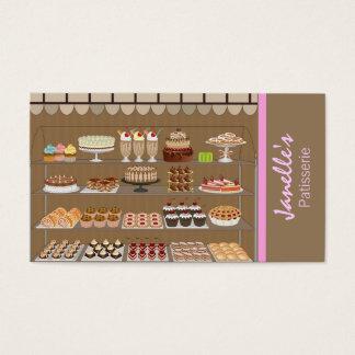carte de visite de pâtisseries