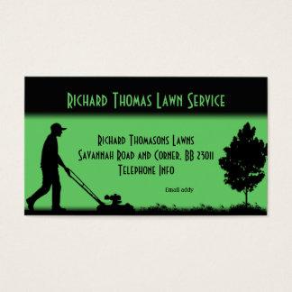 Carte de visite de paysage de service de pelouse