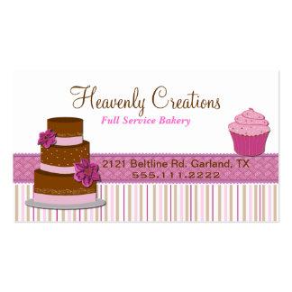 Carte de visite de petit gâteau de boulangerie