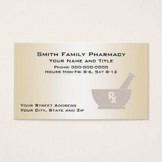Carte de visite de pharmacien