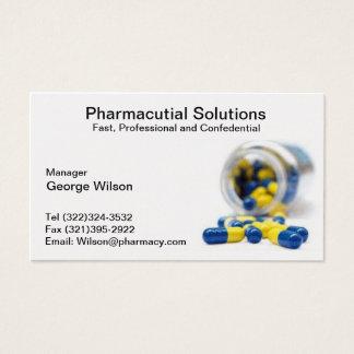 Carte de visite de pharmacien de pharmacie
