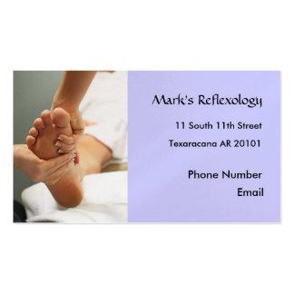 Carte de visite de photo de réflexothérapie de pie