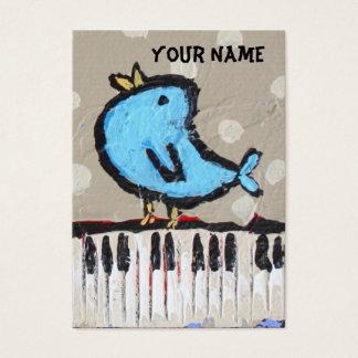 carte de visite de pianiste
