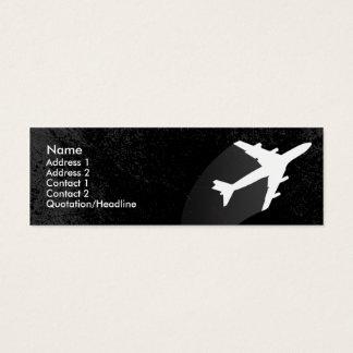 Carte de visite de pilote d'avion ou de steward