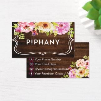 Carte de visite de Piphany, coutume votre carte de