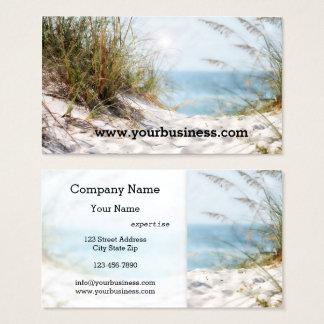 Carte de visite de plage