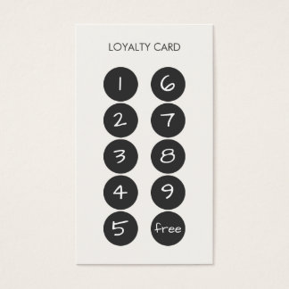 Carte de visite de poinçon de fidélité