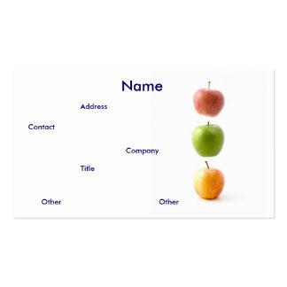 Carte de visite de pommes