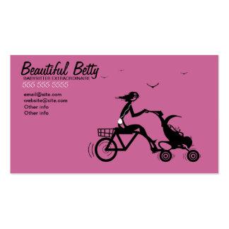Carte de visite de poussette de bébé de bicyclette
