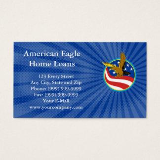 Carte de visite de prêts immobiliers d'Eagle